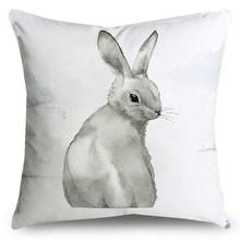 Sevimli karikatür hayvan baskı yastık polyester elyaf yumuşak araba kanepe ev dekorasyon yastık minder örtüsü(China)