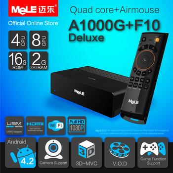 Quad Core Mini PC Android TV Box MeLE A1000G Quad Cortex A7 2GB RAM 16GB ROM 1080P HDMI WiFi Media Player + MeLE F10 Deluxe