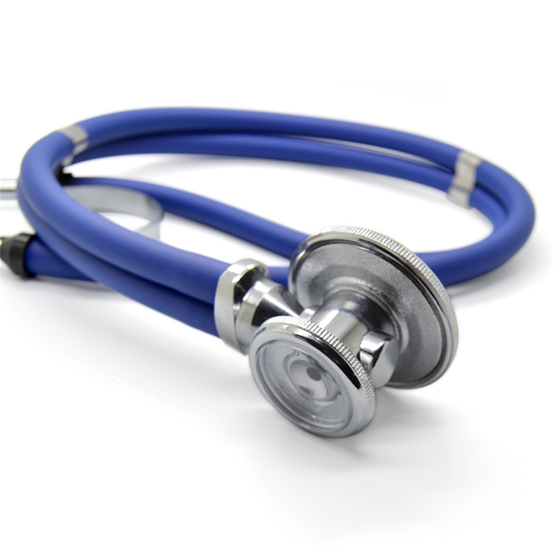 100% Brand New Double Dual Head Functional Professional Stethoscope High Quality Medical Estetoscopio Free Shipping