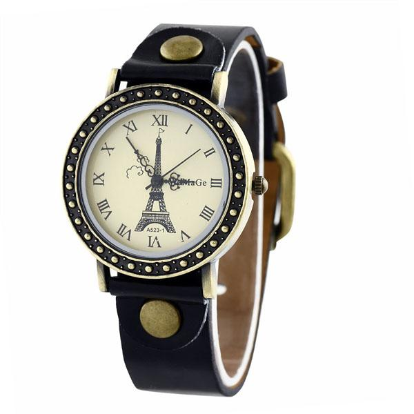 Fashion Vintage Classic Style Women Eiffel Tower Design ...