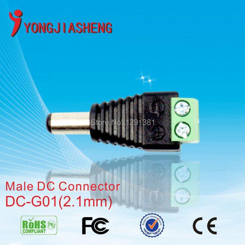 hot 100pcs/lot CCTV Camera 2.1mm Male DC Connector DC Jack Plug for CCTV Camera system<br><br>Aliexpress