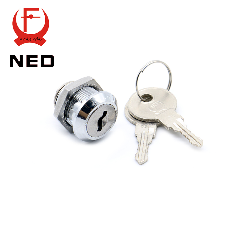 30PCS NED103-16 Cam Cylinder Locks Door Cabinet Mailbox Drawer Cupboard Home Locks 16mm Length With Iron Keys Furniture Hardware(China (Mainland))