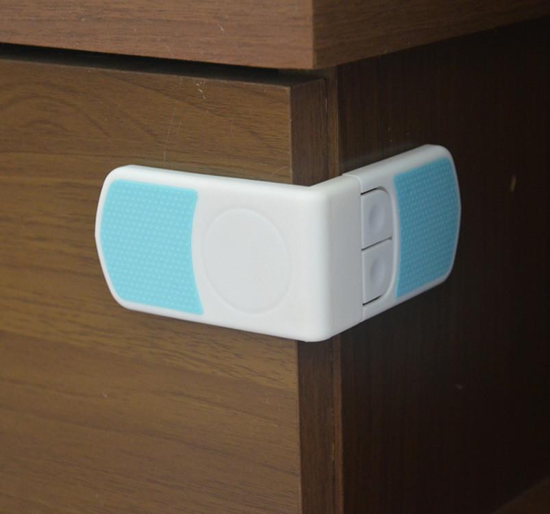 Safety 10 pcs Cabinet Drawer Cupboard Refrigerator Toilet Door Closet Plastic Lock Baby Safety LockCare Child Safety ER038