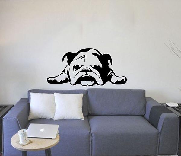 Small British Bulldog Vinyl Wall Sticker Home Decor Animal Car Decal Mural  PVC Stickers DIY Art. Modern British Furniture   makitaserviciopanama com