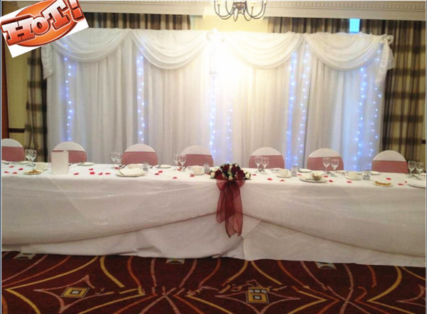 3m x 6m ice silk wedding drapes curtain with LED for wedding party decoration(China (Mainland))