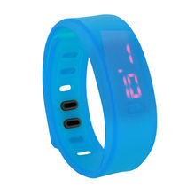 New Fashion Unisex Rubber Red LED Watch Date Sports Bracelet Digital Watch
