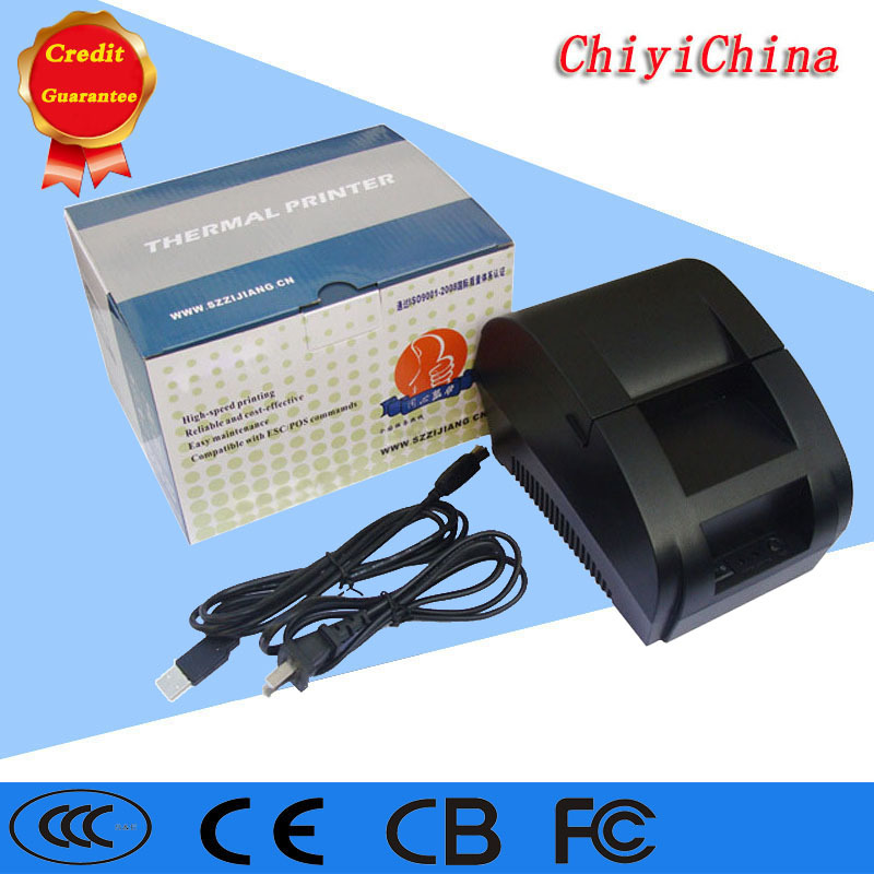 New arrival USB interface 58mm pos receipt printer thermal printing with power supply built in free