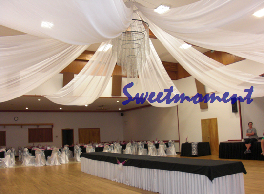 White luxury wedding ceiling draper canopy drapery for for Canape decoration