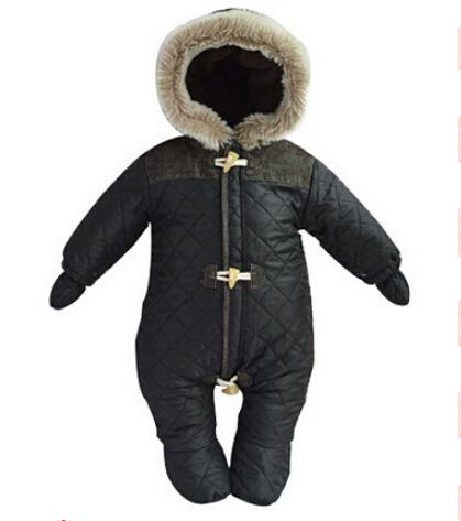 2015 tute del bambino, neonato vestiti di marca tute invernali vestiti del bambino snowsuit addensare giù tuta sportiva & cappotti(China (Mainland))