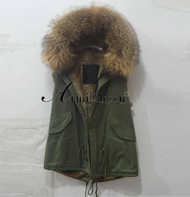 Italy Name Brand vest Designer Fashion Mr Mrs Jackets Real Fur Coat - Harve leger store