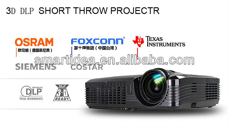 300inch big screen dlp short throw projector,free shipping(China (Mainland))