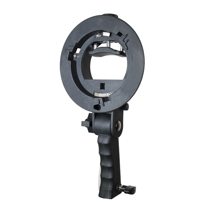 2pcs Hand-held S-Type Bracket Holder Kit with Bowens Mount for Speedlite Flash Softbox Snoot and Umbrella