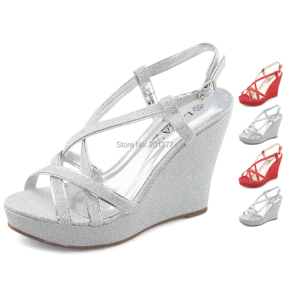Cheap Strappy Silver Heels