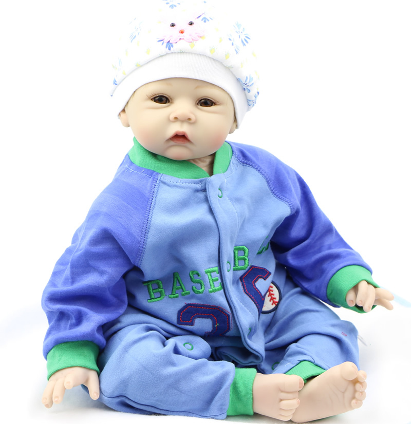 22 Inch Collectible Reborn Baby Doll Silicone Cloth Body NPK Doll  Can Lying And Sitting  Lovely Baby Doll For Children Gift<br><br>Aliexpress