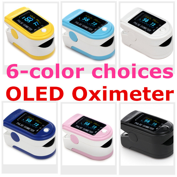 healthcare equipment- 4 direction OLED color display Fingertip Pulse Oximeter Spo2 Test Monitor / 6 colors for you(China (Mainland))