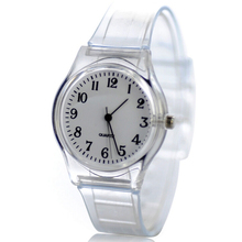 New Style Transparent Plastic Watch Women Quartz Windmill Watches white  Clear Wrist women dress Watches Clock(China (Mainland))