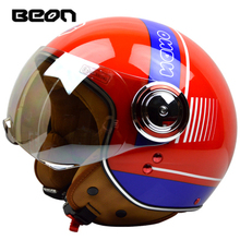 2016 brands fashion casque motorcycle helmet half face four season casco moto beon helmets capacete for men women M-XL 54-60cm(China (Mainland))