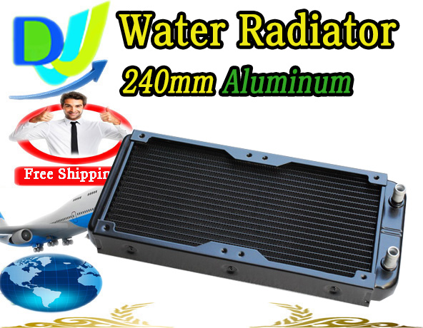 Good quality Water cooling heatsink 240mm water cooler radiator Heat exchanger to fix 2*120mm fan(China (Mainland))