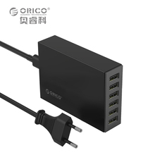 Desktop Mobile Phone Charger Adapter,ORICO 6 Port 5V2.4A 50W for iPhone iPad iPod Samsung Xiaomi more Mobile Devices Tablets/PC(China (Mainland))