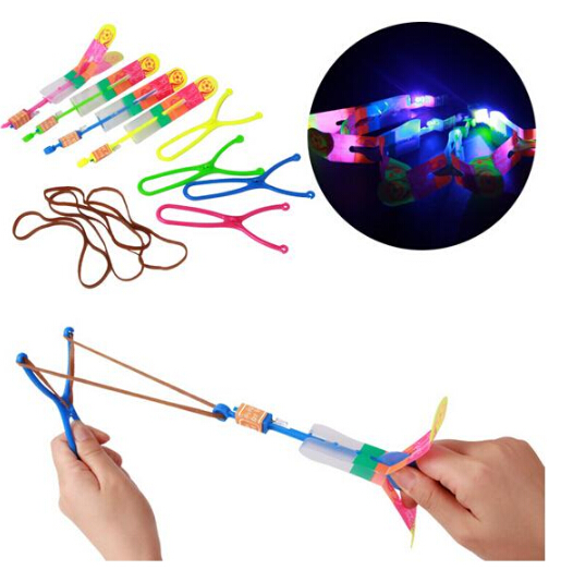 Amazing Helicopter Boomerang Sling Shot Light-Up LED Shoot Up Arrow Flying Toy(China (Mainland))