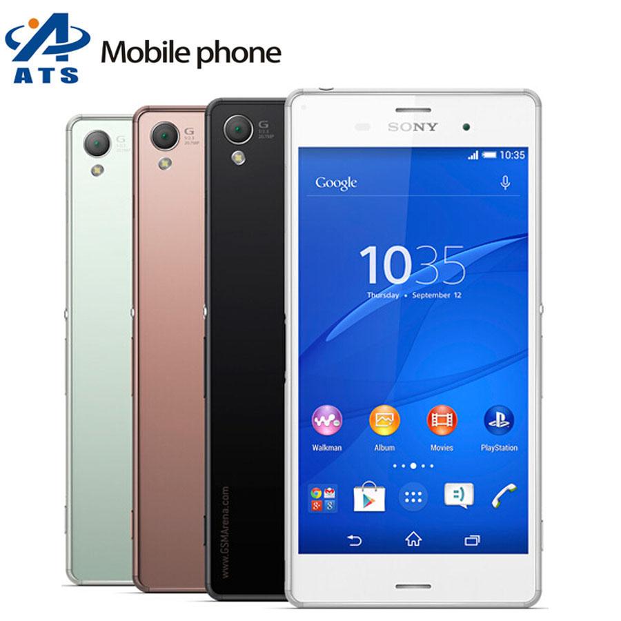 "Z3 Original Unlocked Sony Xperia Z3 D6603 Mobile phone WIFI GPS 3G&4G 5.2"" 20.7MP 16GB ROM Free Shipping(China (Mainland))"