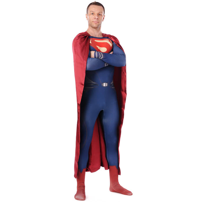 superman costume adult superman of steel costume Halloween ...