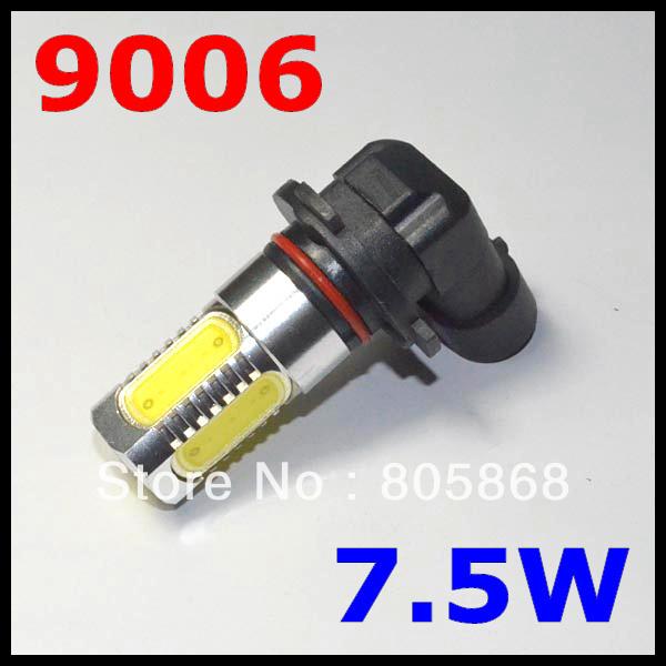 External Lights Free Shipping 2pcs 9006 7.5w High Power Led Car Bulb Front Head Fog Light