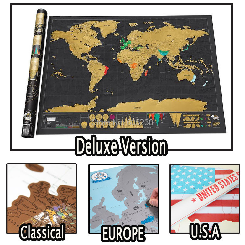 Гаджет  Scratch OFF MAP Travel Scratch Map Personalized World Map Poster Novelty Gift for Traveller None Дом и Сад