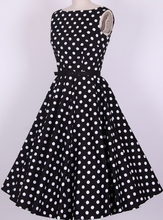 Buy Drop women dress summer 2017 bohemian prom girl dresses S-6XL polka dot dress UK designed rock roll swing party for $29.37 in AliExpress store