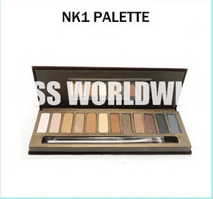 2015 Professional NK 1 Eyeshadow Cosmetic 12 NAKED 1 Generation Color Eyeshadow Makeup Palette With A Brush 240pcs(China (Mainland))