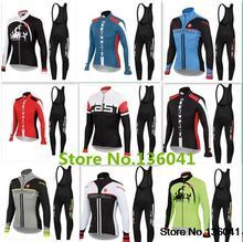 Ropa Ciclismo 2015 Winter Thermal Fleece Cycling (bib)Kits Long Style Cycling Jersey+(bib)Pants Bike Cycling Clothing(China (Mainland))