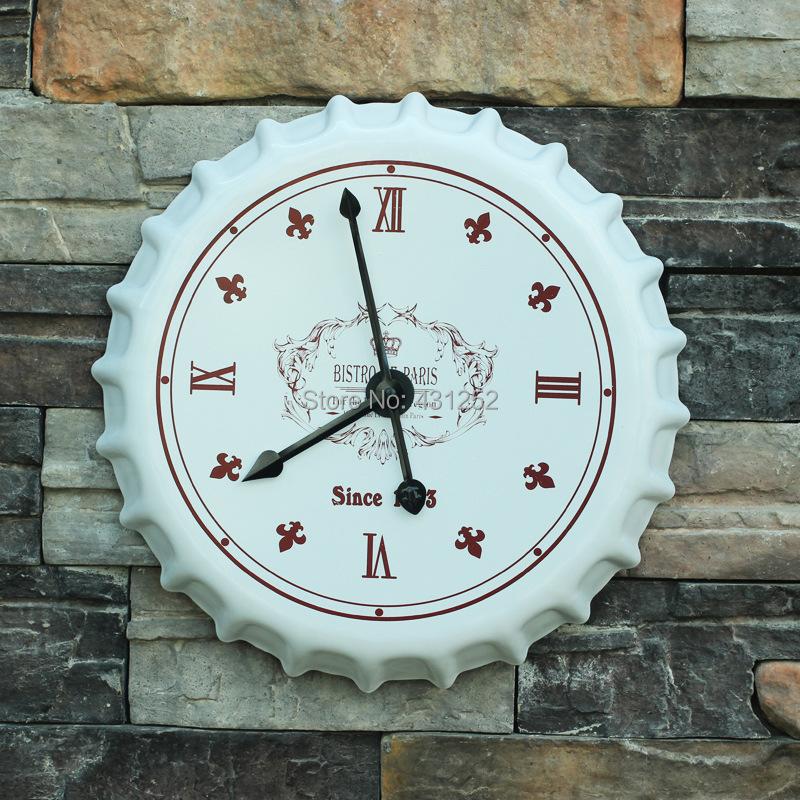 Decorative Kitchen Wall Clocks Beer Cap Clock Decor