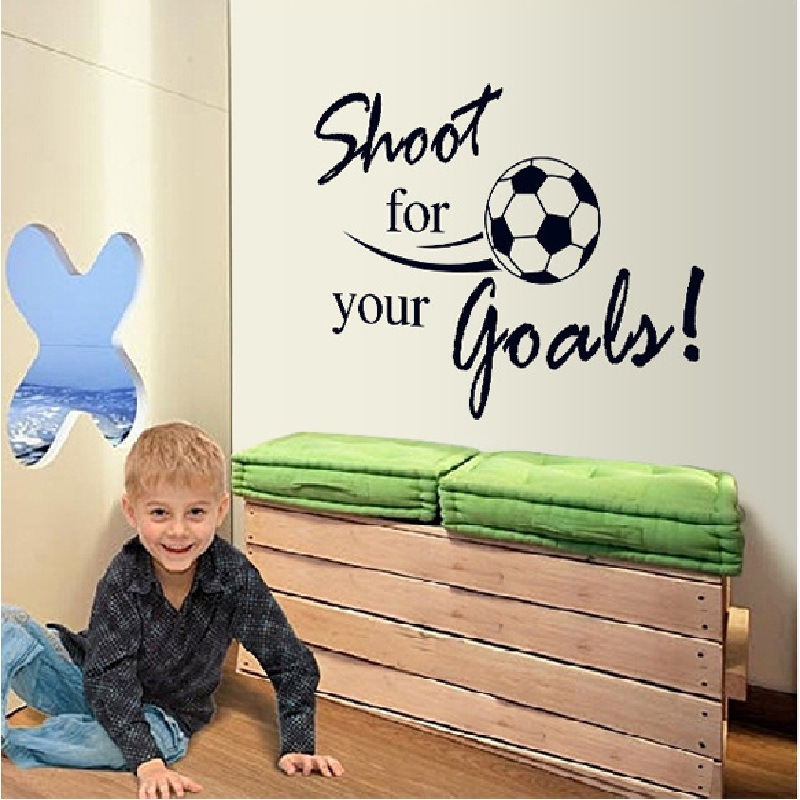 creative personalised wall stickers for boys rooms sport