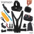 Vamson for Gopro Hero 5 Accessories Set for Go Pro Kit Mount For SJ4000 Hero 4