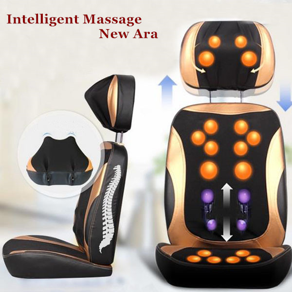 3D Relax Cushion Cervical Massage Massager Health Care Back Home Heating Lumbar Support Ventilate Device Neck Free Shipping(China (Mainland))