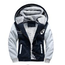 winter hoodies bomber baseball slim zipper thickened fleece outwear coat sport plus size men s sweatshirt
