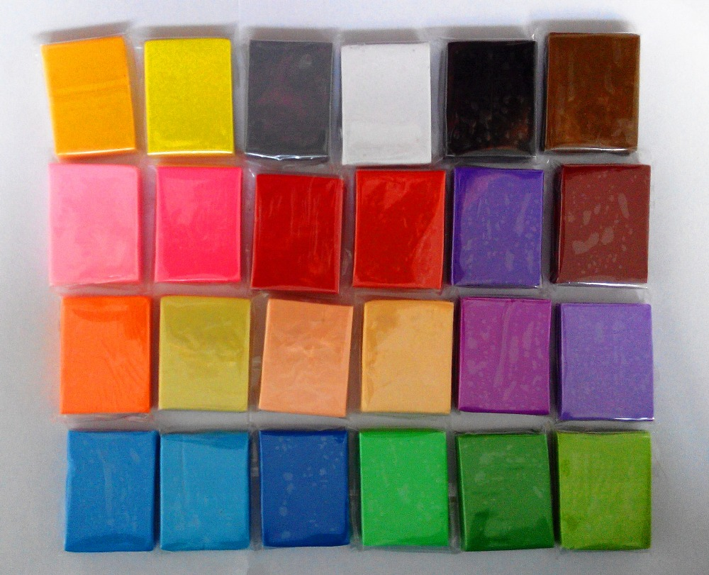 2set/LOT total 480g size with 3x2x1cm Prism&Pro brand Top sale eco-friendly polymer clay ,need oven bake ,modeling clay