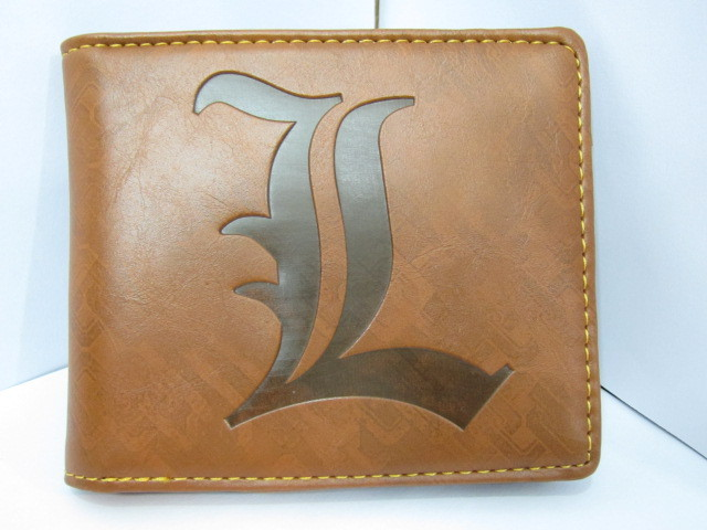Death Note L Lawliet PU Leather Wallet Money Coin Wallet Purse New(China (Mainland))