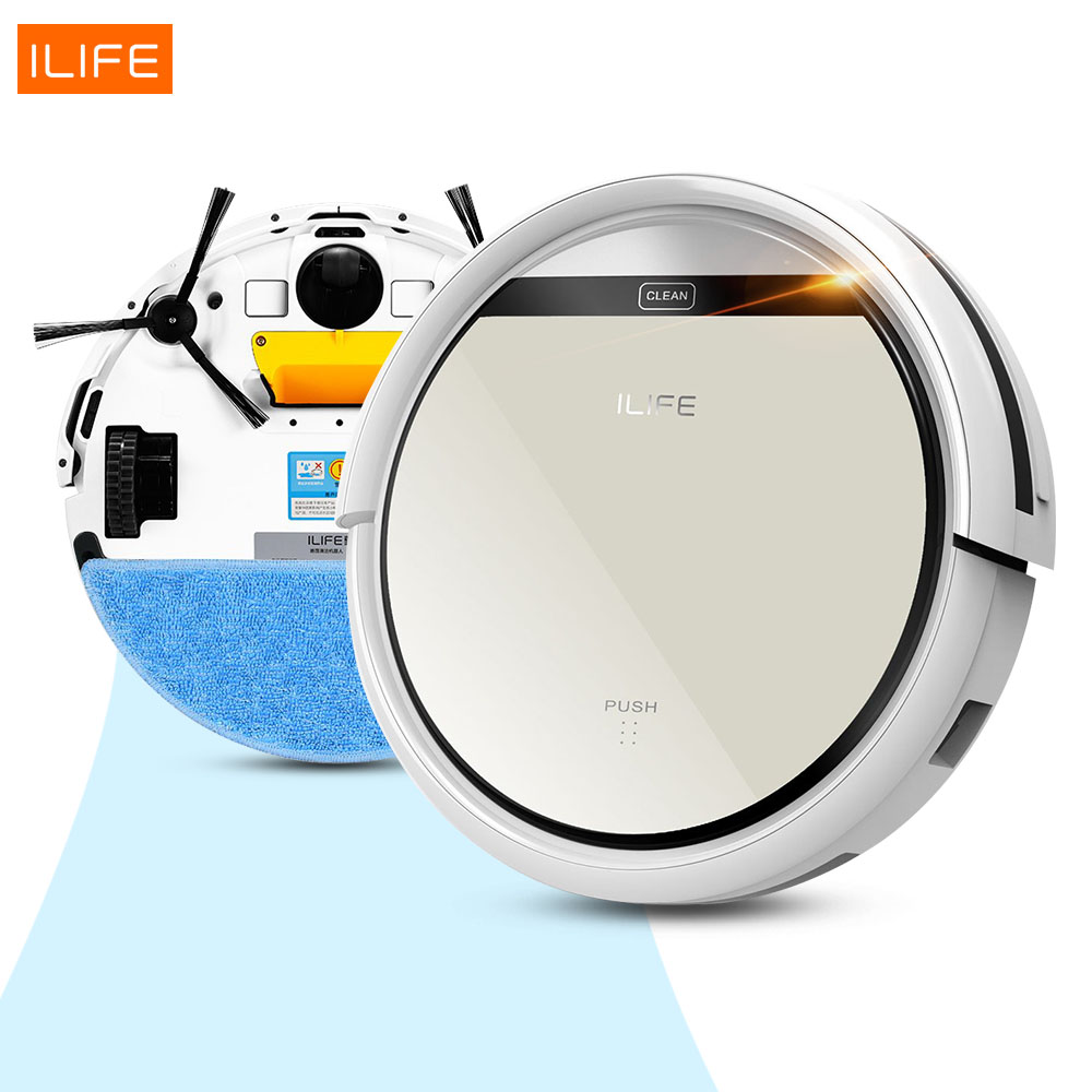 Best ILIFE Mop Robot Vacuum Cleaner for Home,ILife V5 Golden Lid HEPA Filter,Sensor,Remote Control Self Charge ROBOT ASPIRADOR(China (Mainland))