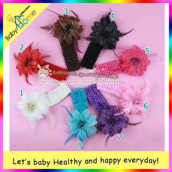 MAGNIFLCENT hairy style baby girls' clip & haedband, popular feather and multicolor boutigue baby hair item.