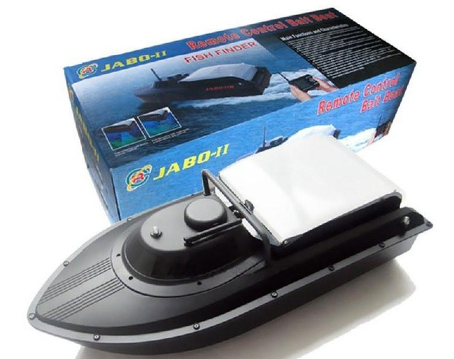 Free Shipping JABO Remote Control Bait Boat,Fishing Boat with Fish Finder 2BS