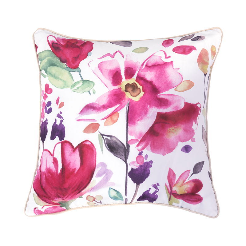 Hot Sale Modern Sofa Cushions Printed Colorful Floral Decorative Throw Pillows Pink Cushion ...