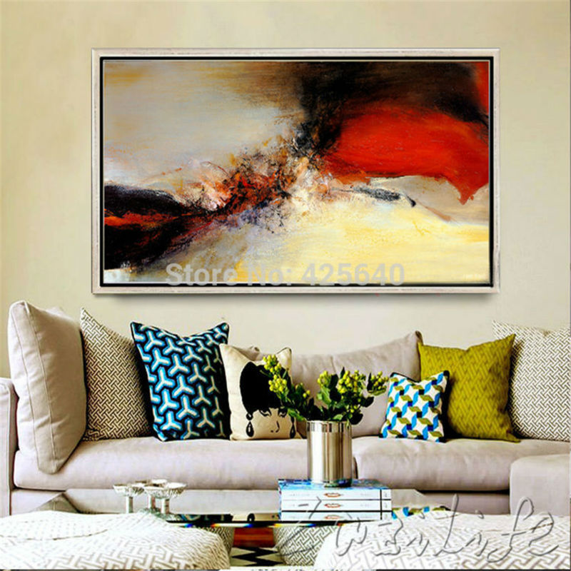 Buy Hand Painted Canvas Oil Paintings Modern Abstract Large Cheap Wall Art