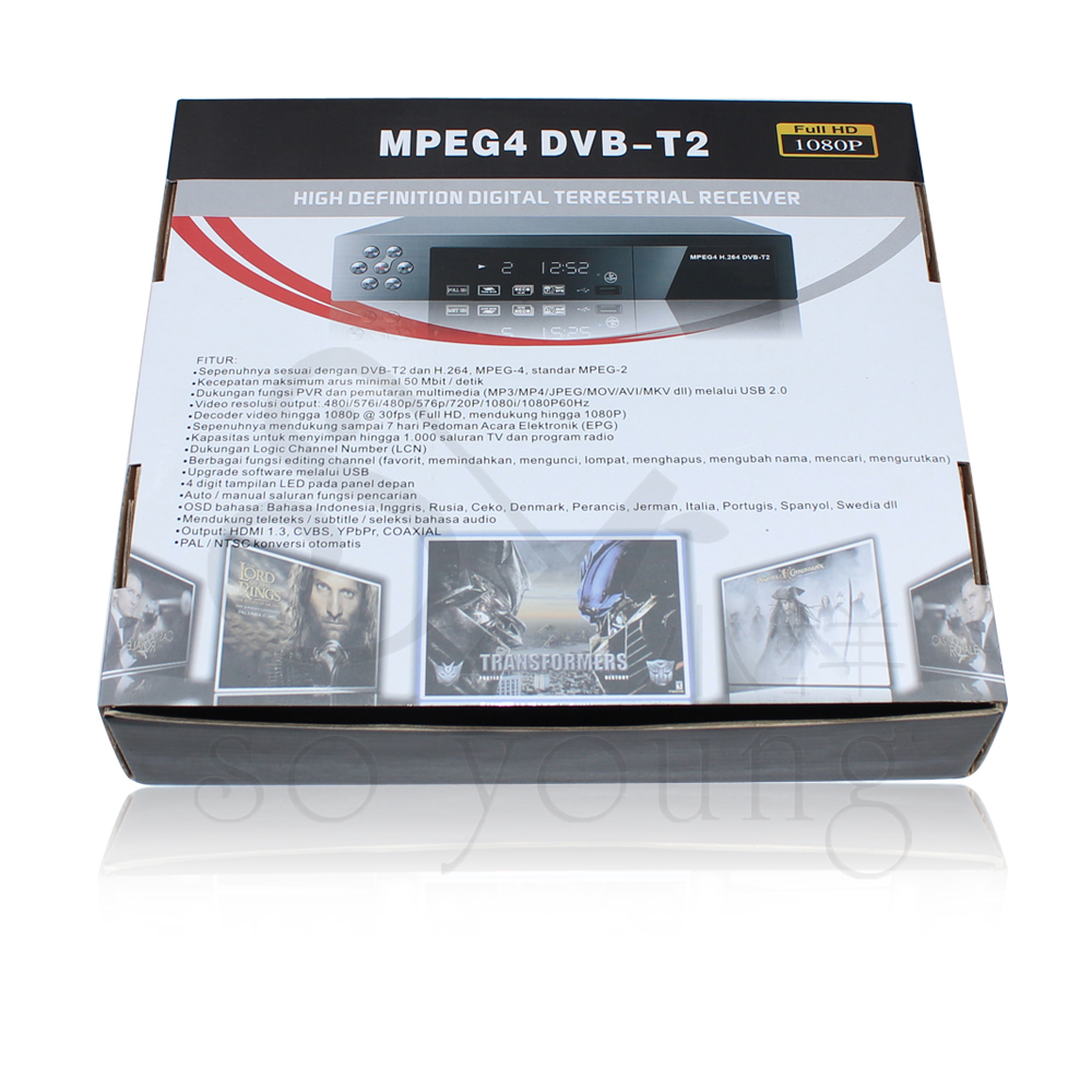NEW DVB-T2 Freeview Digital TV Tuner Receiver Box H.264 MPEG4 1080p full hd(China (Mainland))