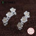 BALMORA Elegant Flower Earrings 925 Sterling Silver Stud Earrings Women Party Wedding Gift Fashion Jewelry Bijoux