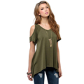 Amazing Sexy Loose Short Sleeve Shirt Women Casual T shirt Summer Style New Arrival 20
