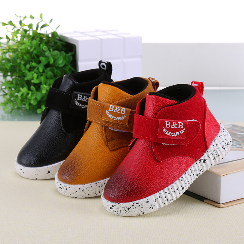 2016 kids winter boots girls boys school outdoor Martin boots autumn toddler boots non-slip kids leather shoes<br><br>Aliexpress