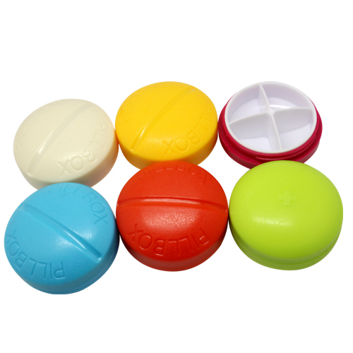 4 Compartment Compact Pill Box Case Tablet Holder Medicine Dispenser Organisers(China (Mainland))