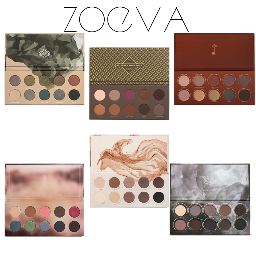 ZOEVA Eyeshadow Glow Kit Palette Mixed Metals/Cocoa Blend/Rose Golden/NATURALLY YOURS/RODEO BELLE/SMOKY Nake Eye Shadow