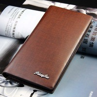 New men's leather wallet & Men's wallet in the long section Glossy & Multi-card bit Wallet & Multi-function card pack c823-38